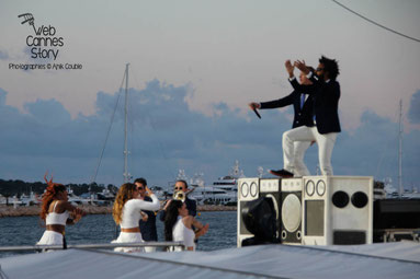 """MAJOR LAZER"" au Grand Journal de Canal +/- Festival de Cannes 2013 - Photo © Anik COUBLE"