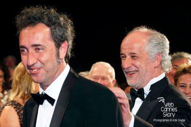 Paolo Sorrentino et Toni Servillo, lors de la projection du film «La Grande Bellezza» de Paolo Sorrentino - Festival de Cannes 2013 © Anik COUBLE