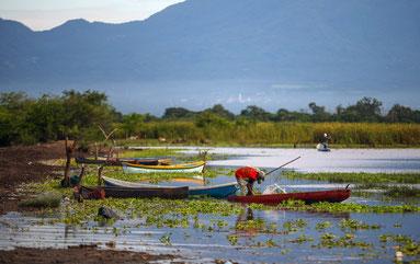 Für die Dorfbewohner von Guadalupe stellt die Lagune ihren Arbeitsplatz und die Bank des Dorfes dar