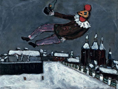꧁ Chagall, Homme-coq au-dessus de Vitebsk, 1925 ꧂