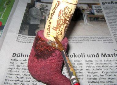 Das Beizen mit Abdichtung der Tabakkammer