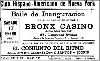 Presentación de Daniel en 1942, ya era famoso en New York.