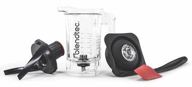 blendtec mixer mit dem twister jar trockenbehälter