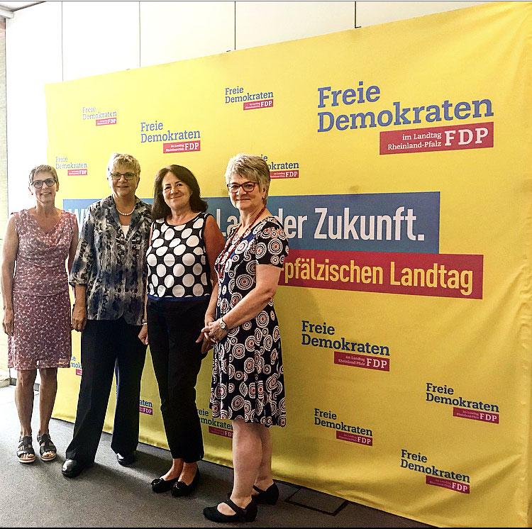 Birgit Vogt, MdL Lerch, Ingrid Baumgartner-Schmitt u. Christine Gauer