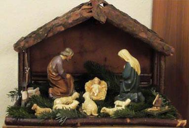 Die heilige Krippe mit dem großen Weihnachtsereignis