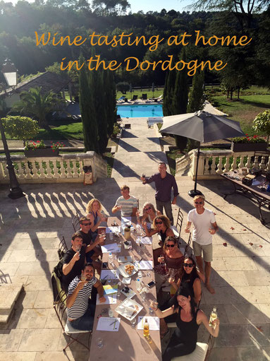 Home wine tasting in the Dordogne