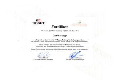 Tissot T-Touch Köln Batteriewechsel