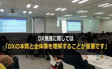 自動車関連企業社員に向けたDX(デジタルトランスフォーメーション)研修では、DXの本質と全体像を理解することが重要です