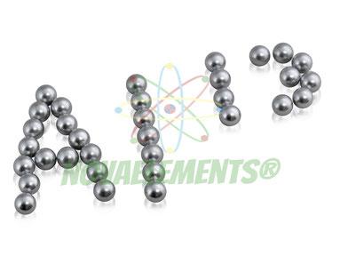 alluminio metallico, alluminio sfere, alluminio pellets, alluminio lingotti, alluminio da collezione, alluminio metallo per collezione elementi