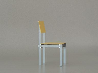 Miniaturstuhl, Militärstuhl von Gerrit Rietveld