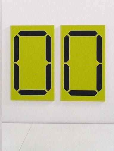 Daniel Schörnig  DISPLAY - PROJECT VERSION, 2008  acrylic on canvas