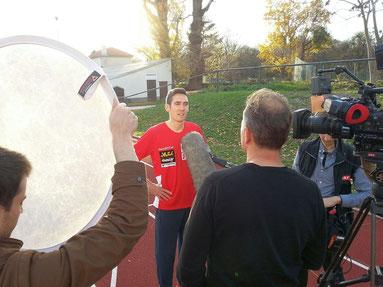Andreas Vojta wird aus gutem Grund auch von den Medien (hier ORF) immer wieder als Sportlervertreter zu Themen wie Doping befragt
