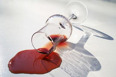 Schlehe Likör Glas rot