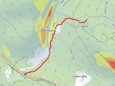 Gimbach Kaskaden im Weißenbachtal