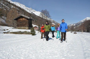 Hiking in Saas Valley - you can enjoy it as well in winter
