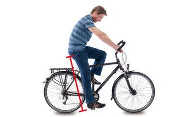 e-Bike Sattel einstellen