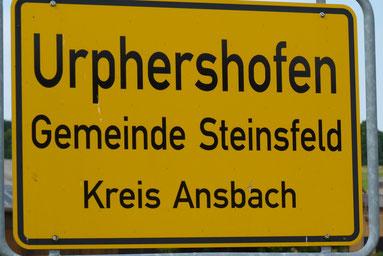 Urphershofen Gemeinde Steinsfelds Webseite