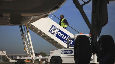 Menzies provides aviation and cargo handling services at 200 airports. Image courtesy of Menzies