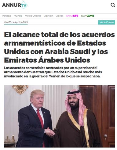 10.04.2019 - Anur TV - Der volle Umfang der Rüstungsabkommen der Vereinigten Staaten mit Saudi-Arabien und den Vereinigten Arabischen Emiraten