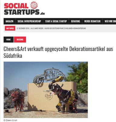 Social Startups.de berichet von Cheers & art