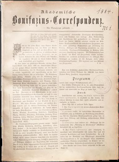Akademische Bonifatius-Correspondenz von 1884