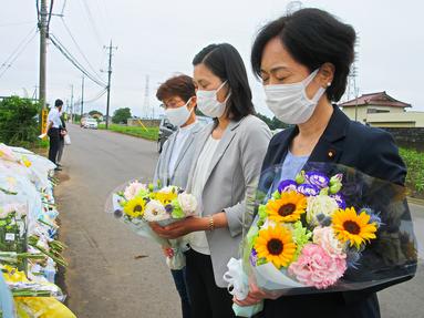 右から畑野君枝衆議院議員、斉藤和子元衆議院議員、丸山