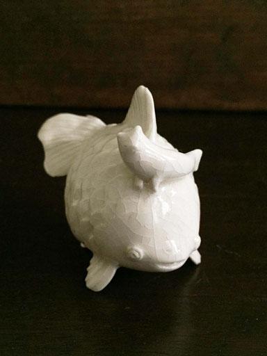 「金魚と猫フィッシュ」 陶 50×90×70mm