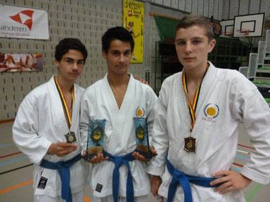 Garbar Niko 2 x Goud, Peter Garbar  zilver en Kolkov Vlad brons