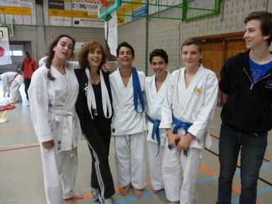 Van Wambeke Dempsey Belgisch Kampioene met Sensei Martine Demeyer