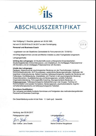 Personal und Business-Coach Wolfgang C. Reschke