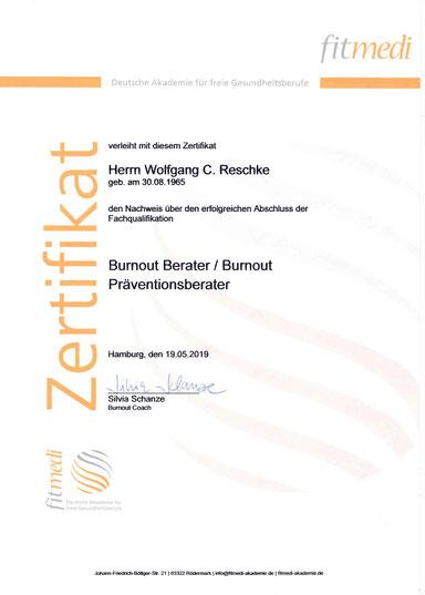Burnout-Berater Wolfgang C. Reschke