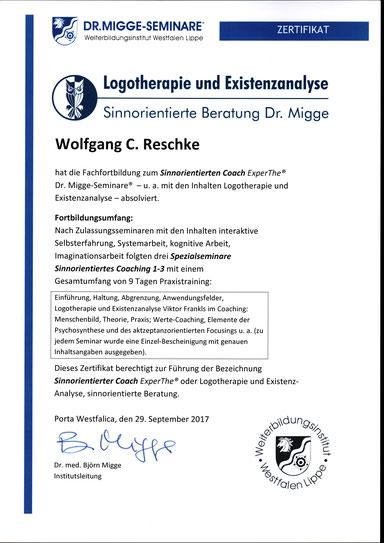 Wolfgang C. Reschke: Sinnorientierte Beratung