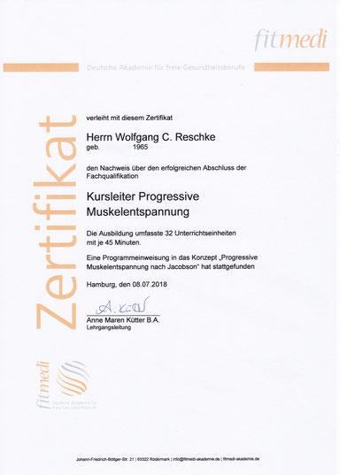 Kursleiter PME Wolfgang C. Reschke