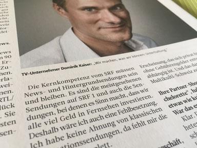 Dominik Kaiser 3+ zur Informationsleistung von SRF