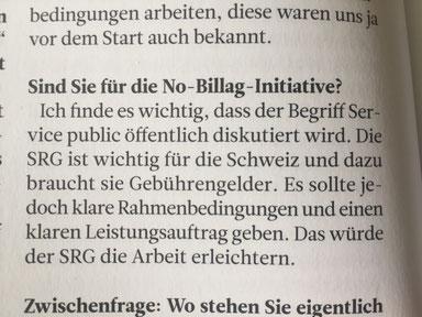 Dominik Kaiser 3+ zur Abschaffung der Billag-Gebühren