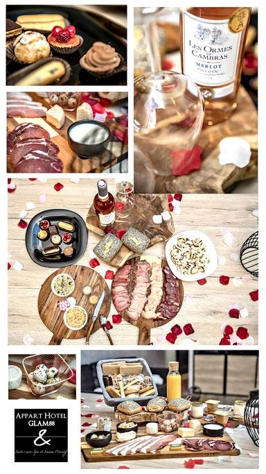 Plateau repas week-end saint valentin vosges