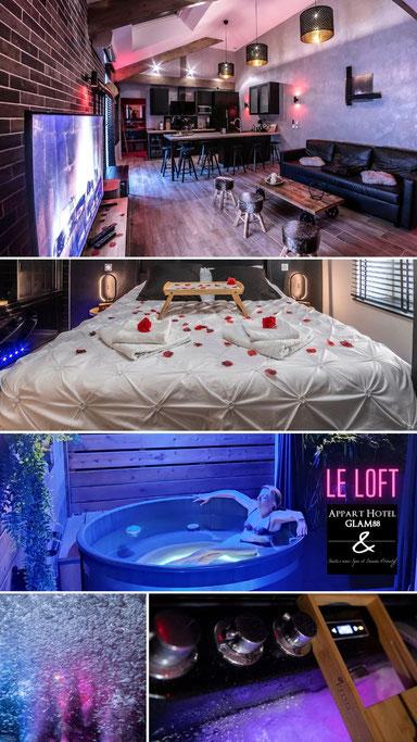Loft New York avec sauna et spa privatif gite le glam88 Vosges