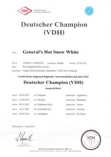 Lucie Dt. Champion VDH