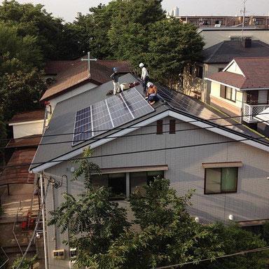 太陽光パネル設置完了!