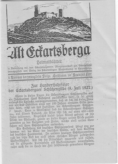 Heimatblatt 09.07.1927