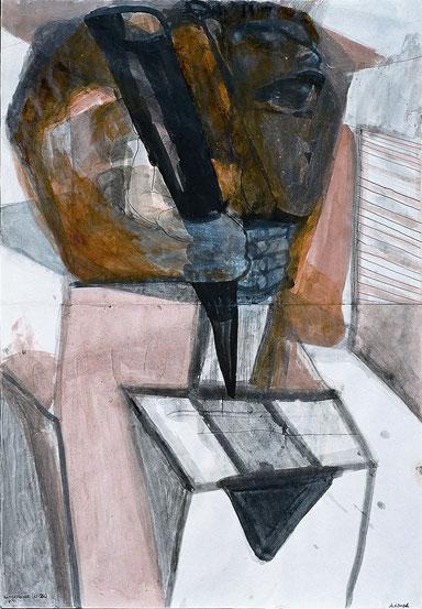 Kupferstecher 70 x 40 Tuschezeichnung 1997