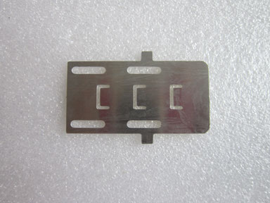small thin aluminium part by laser cutting 0.8mm thick.