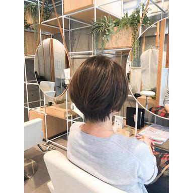 横浜・石川町、美容室Grantus,ヘアスタイル、ミディアム、ボブ、外国人風カラー、ショート