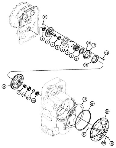 Turbine Driven Gears, Freewheel Units and Front Covers