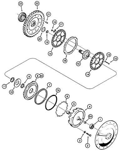High Range Clutch and Transfer Gear