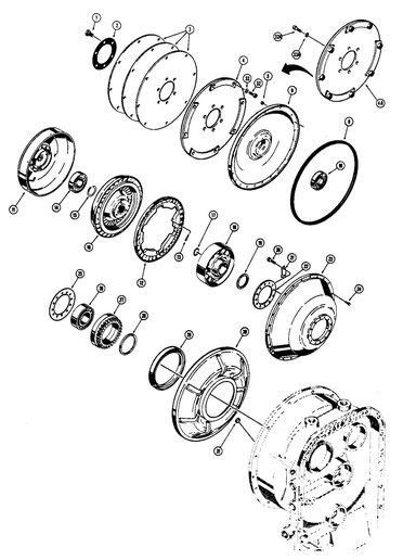 Torque Converter - Transmission Front Cover section