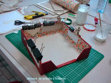 Fabrication d'une boîte à foulards