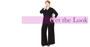 eleganter Hosenrock für dicke Damen in Größe 46