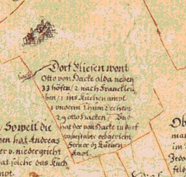 Öder-Zimmermann-Karte, 1:53 333, Handzeichnung, um 1614-1634