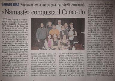 Giornale di Lecco. 11 febbraio 2013